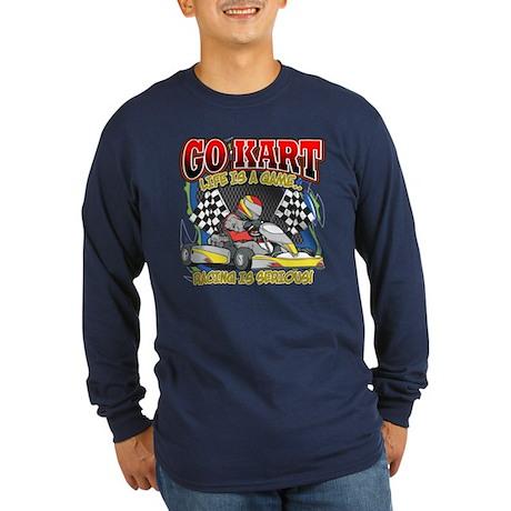 Go Kart Life Long Sleeve Dark T-Shirt
