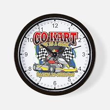 Go Kart Life Wall Clock