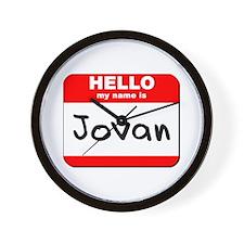 Hello my name is Jovan Wall Clock
