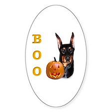 Dobie Boo Oval Decal