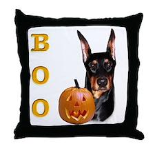 Dobie Boo Throw Pillow