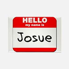 Hello my name is Josue Rectangle Magnet
