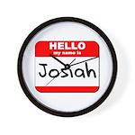 Hello my name is Josiah Wall Clock