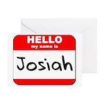 Hello my name is Josiah Greeting Card