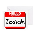 Hello my name is Josiah Greeting Cards (Pk of 20)