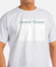 Spanish Riviera - Ash Grey T-Shirt