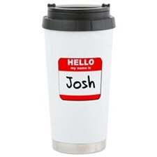 Hello my name is Josh Travel Coffee Mug