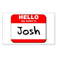 Hello my name is Josh Rectangle Decal