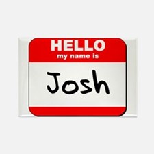 Hello my name is Josh Rectangle Magnet