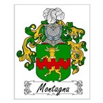 Montagna Family Crest Small Poster
