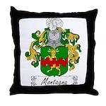 Montagna Family Crest Throw Pillow