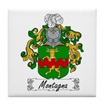 Montagna Family Crest Tile Coaster