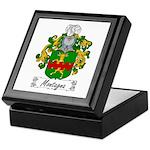 Montagna Family Crest Keepsake Box