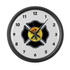 Fire Dept Large Wall Clock