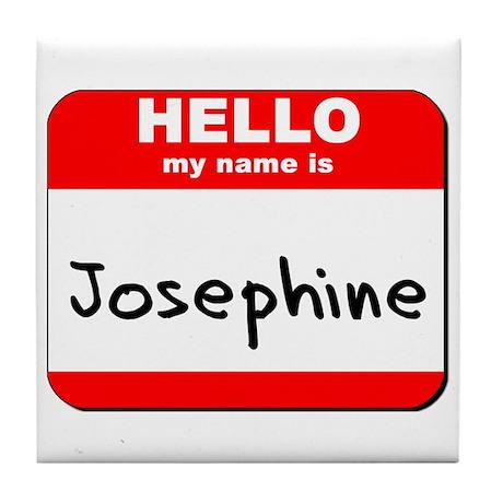 Hello my name is Josephine Tile Coaster