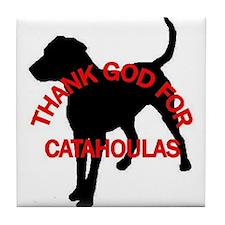Thank God Tile Coaster