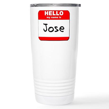 Hello my name is Jose Stainless Steel Travel Mug