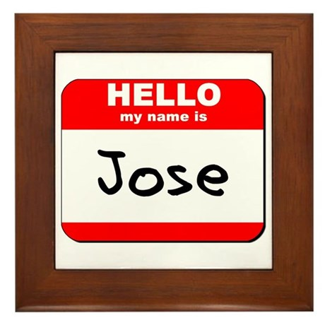 Hello my name is Jose Framed Tile