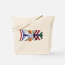 Wavy Tampa Flag Tote Bag