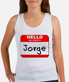 Hello my name is Jorge Women's Tank Top