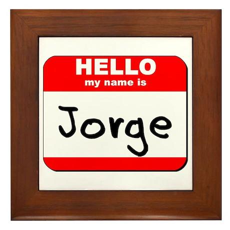 Hello my name is Jorge Framed Tile
