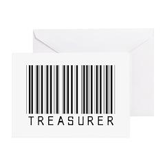 Treasurer Bar Code Greeting Card