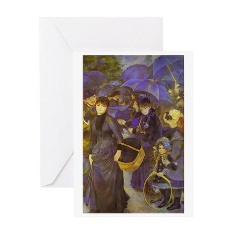 Umbrellas (1883) Greeting Card