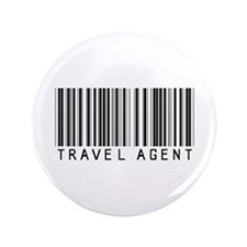 """Travel Agent Barcode 3.5"""" Button"""