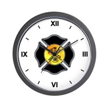 Fire Dept Maltese Wall Clock