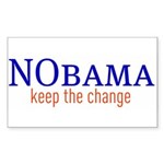 Nobama - keep the change Rectangle Sticker