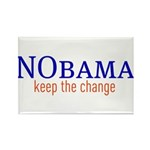 Nobama - keep the change Rectangle Magnet (100 pac