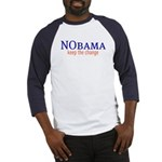 Nobama - keep the change Baseball Jersey