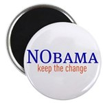 "Nobama - keep the change 2.25"" Magnet (10 pac"