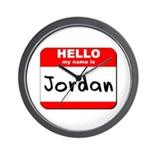 Hello my name is Jordan Wall Clock