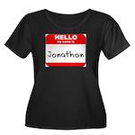 Hello my name is Jonathon Women's Plus Size Scoop