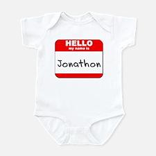 Hello my name is Jonathon Infant Bodysuit