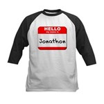 Hello my name is Jonathon Kids Baseball Jersey