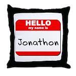 Hello my name is Jonathon Throw Pillow