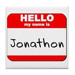 Hello my name is Jonathon Tile Coaster