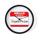 Hello my name is Jonathon Wall Clock