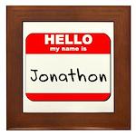 Hello my name is Jonathon Framed Tile