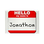 Hello my name is Jonathon Rectangle Magnet (10 pac