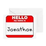 Hello my name is Jonathon Greeting Cards (Pk of 20