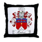 Montesi Family Crest Throw Pillow