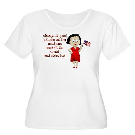 Change is Good Women's Plus Size Scoop Neck T-Shir