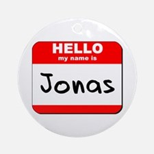 Hello my name is Jonas Ornament (Round)