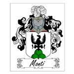 Monti Family Crest Small Poster