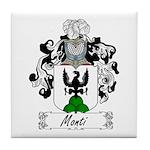 Monti Family Crest Tile Coaster