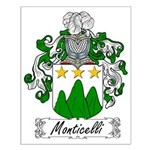 Monticelli Family Crest Small Poster