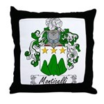 Monticelli Family Crest Throw Pillow